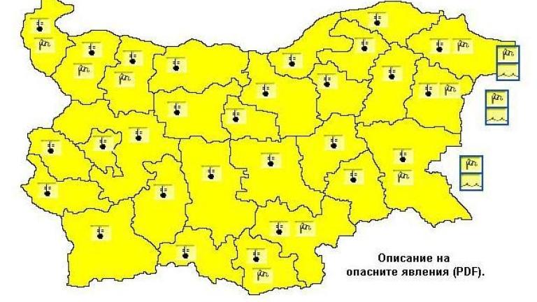 жълт код жега