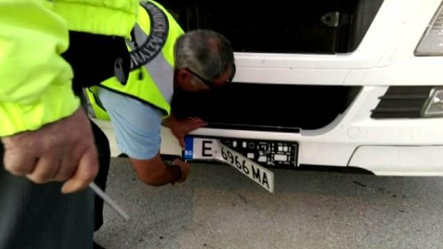 камион кат полиция номера