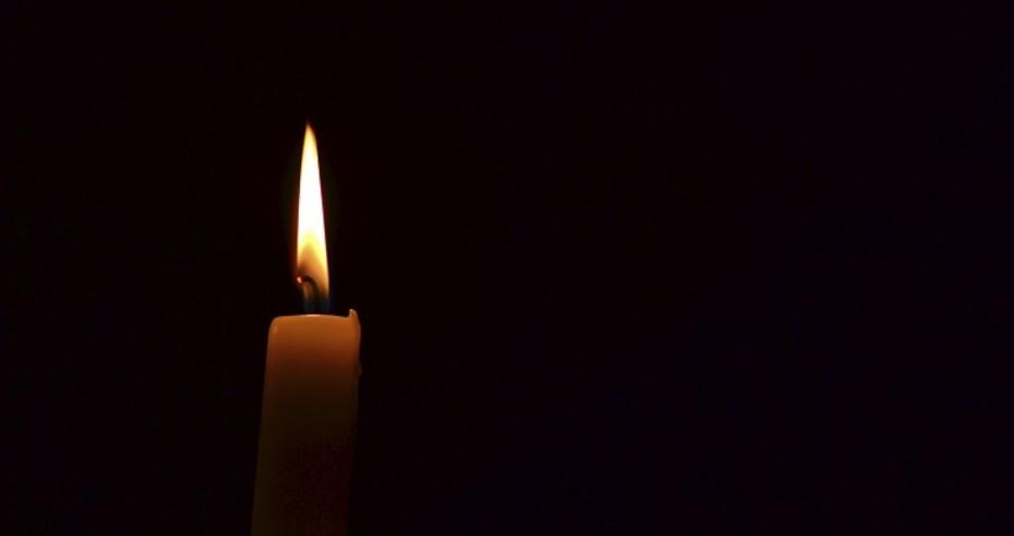свещ тъжна вест