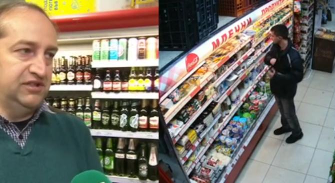 Камери заснеха поредна нагла кражба в столичен магазин за хранителни