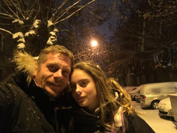 Юлиан Вегов и дъщеря му Али
