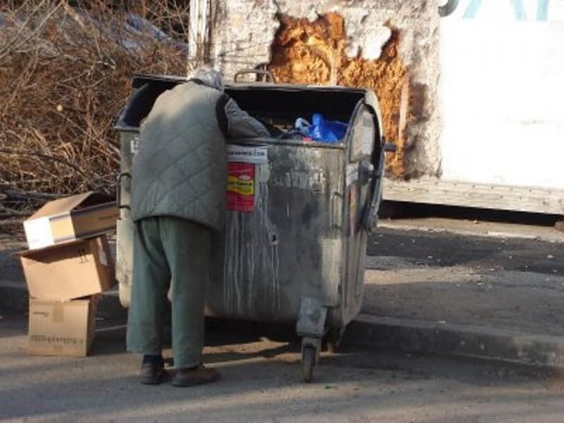 Бездомник клошар, контейнер