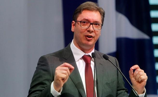 Снимка: Сръбският президент Александър Вучич скандален: Минахме и България по заплати!
